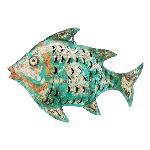 Fisch Kanu, Metall, 47x8x31 cm
