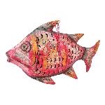 Fisch Kanu, Metall, 60x8x38 cm