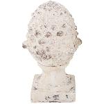 Zapfen Valo, creme/white, 21x19,5x35,5 cm
