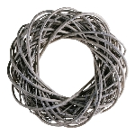 Kranz Willow, grey, 40x40x11 cm