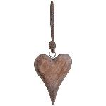 HerzHänger Dost, natur, Holz, 10x2,5x16 cm