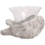 FlügelLicht Valo, creme/white, Keramik, 21x14 cm