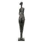 FrauenSkulptur Hilda, Polyresin, 14,5x14x81 cm