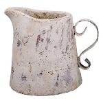 Kanne Valo, creme/white, Keramik, 23x18,5x19,5 cm