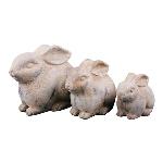 Hase Valo, creme/white, Keramik, 30x19x25 cm