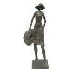 FrauenSkulptur Hilda, Poly, 22x14x58 cm