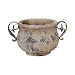 Topf Valo, creme/white, Keramik, 31x23x18 cm