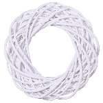 WhiteKranz Willow, Rattan, 20x20x6 cm