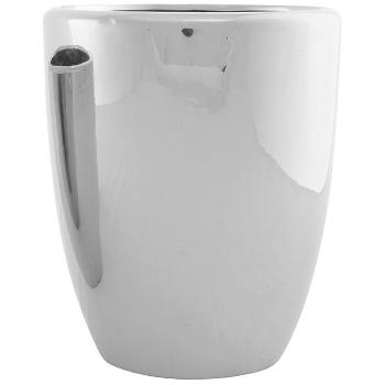 Topf ArgenT, silber, Keramik, 19x19x23 cm