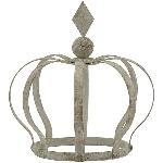 Krone ArtFerro, grau, Metall, 13x19x21 cm