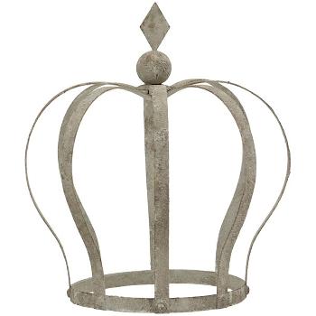 Krone ArtFerro, grau, Metall, 18x27x30 cm