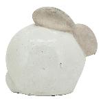 Hase Marta, white, Keramik, 21x15x18,5 cm
