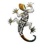 WandHänger Gecko Glary, Metall, 62,5x17x45,5 cm