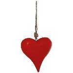 HerzHänger Dost, rot, Holz, 17x14x4 cm