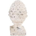 Zapfen Valo, creme/white, 14x12,5x23 cm
