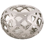 WindLicht ArgenT, silber, Stoneware/Glas, 18x18x11,5 cm
