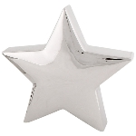Stern ArgenT, silber, Keramik, 15x15x4 cm