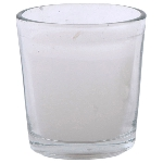Glas mit Kerze Vitreous, 6x6x6 cm