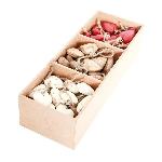 Box mit HerzHängern Dost, rot/weiß/natur, Holz, 90 tlg.