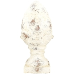 Zapfen Valo, creme/white, Keramik, 14,5x14x31 cm