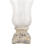 WindLicht Valo, creme/white, Cement, 14x14x23,5 cm