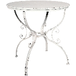 Tisch ClairBlanc, Metall, 74,5x74,5x74,5 cm