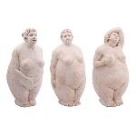 FrauenSkulptur Hilda, Polyresin, 14,5x13,5x30,5 cm