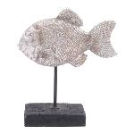 Fisch Hilda, Polyresin, 18,5x7x21,5 cm
