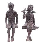 KinderSkulptur Hilda, Polyresin, 13x10x22 cm, 11x8,5x22,5 cm