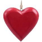 HerzHänger Dost, rot, Holz, 15x15x5 cm