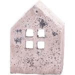 HausWindLicht Valo, creme/white, Cement, 10,5x7x15 cm