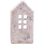 HausWindLicht Valo, creme/white, Cement, 12x7x23 cm