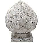 Zapfen Valo, creme/white, Keramik, 19x19x24,5 cm