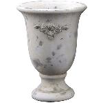 Topf Valo, creme/white, Cement, 16,5x16,5x22,5 cm