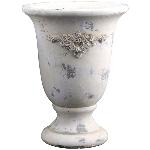 Topf Valo, creme/white, Zement, 20,5x20,5x27 cm