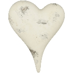 Herz Valo, creme/white, Keramik, 13x11x5,5 cm