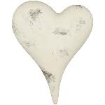 Herz Valo, creme/white, Keramik, 18,5x14x6,5 cm