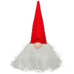 Santa RUNT, rot, Filz, 10x10x20 cm