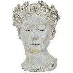 PflanzBüste Valo, creme/white, Keramik, 16x15x21,5 cm