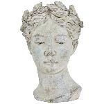 PflanzBüste Valo, creme/white, Keramik, 17,5x17,5x27 cm