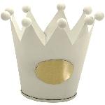 Krone Junker, weiß, Metall, 10x10x8,5 cm