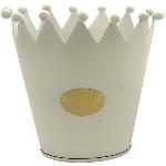 Krone Junker, weiß, Metall, 15x15x13,5 cm
