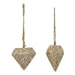 DiamantHänger TroupeR, champagne, Polyresin, 5x5x4,5 cm