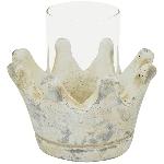 KronenWindLicht Valo, creme/white, Cement/Glas,