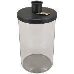 KerzenHalter ClairBlanc, schwarz, Metall/Glas, 12x12x15,5 cm