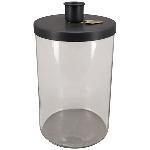 KerzenHalter ClairBlanc, schwarz, Metall/Glas, 12x12x17,5 cm