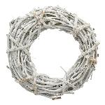 Kranz Willow, weiß, Rattan, 35x9 cm
