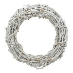 Kranz Willow, weiß, Rattan, 50x11 cm