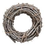 Kranz Willow, grau, Rattan, 25x8 cm