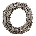Kranz Willow, grau, Rattan, 30x30x9 cm